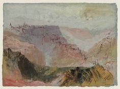 The Bock, Luxembourg, 1839. Joseph Mallord William Turner.