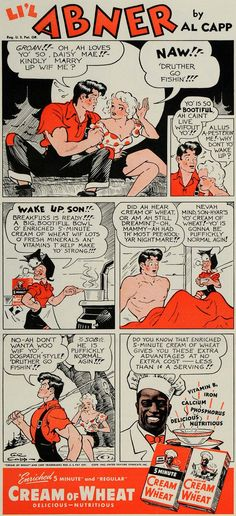 1942 Ad Cream of Wheat Al Capp Lil Abner Comic Strip - ORIGINAL ADVERTISING GH4