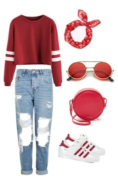 """""""Untitled #326"""" by anahit-danielyan ❤ liked on Polyvore featuring Topshop, adidas, Furla and ZeroUV"""