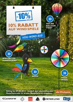 10 % Rabatt auf Windspiele