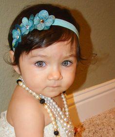20% off entire order...Hydrengea flower headband Newborn Headbands..Baby Girl Headbands...Infant Headbands.Flower Headbands