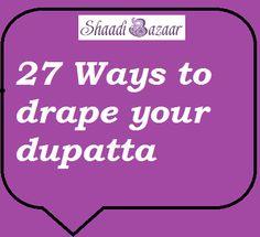 how to drape your dupatta. Indian lehengas #shaadibazaar #indianwedding