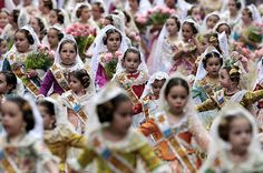 Little Falleras celebrating the Fallas Festival in Valencia, ready for the floral tribute to the Virgin of Desamparados Spanish Lesson Plans, Spanish Lessons, Beautiful Places In Spain, Spanish Eyes, Valencia Spain, Holy Week, Spain And Portugal, Photo Essay, Morocco