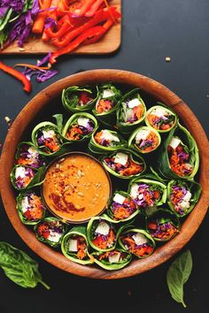 Collard Green Spring Rolls with Sunbutter Dipping Sauce