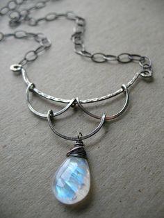 Romantic chandelier teardrop necklace by green bee studio via Flickr
