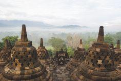 Borobudur morning mist by Trip Stock on Asian Games, Borobudur, Mists, Travel, Viajes, Destinations, Traveling, Trips