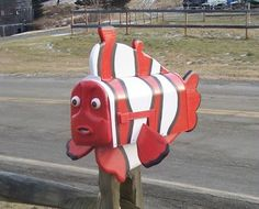 Nemo lovers are guaranteed to love this novelty clown fish mailbox .