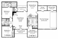 This European House Plan includes 2 or 3 bedrooms / 2 baths in 1503 sq ft of living space.  Its open floorplan layout is flexible and is ideal for your growing family.  Best of all, its designed to be affordable to build and includes all of the most popular features you're looking for in your next home design.    #houseplan #dreamhome #HPG-1503M2 #HousePlanGallery #houseplans #homeplans Unique House Plans, Best House Plans, House Floor Plans, European Plan, European House, Electrical Plan, Residential Construction, Building A New Home, Wood Plans