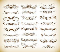 Decorative Elements Vector Graphic Set