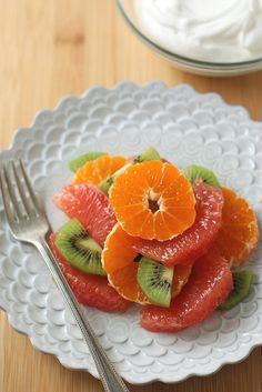 Winter Fruit Salad with Vanilla Whipped Cream