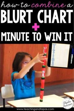 Quiet a noisy classroom by using a blurt chart along with minute to win it Fridays. This fun idea is a student and teacher friendly way to lower the noise levels and blurting out.