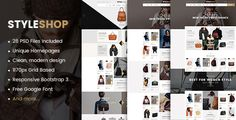 StyleShop - Multipurpose eCommerce PSD Template by magentech  Description StyleShop ¨C A stunning eCommerce PSD Template is designed with a simple, clean and clear style. It includes 03 homepages and other pages to support all your requirements. PSD files are well arranged so you can easy to