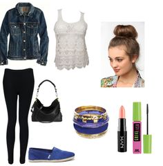 Cute outfits for anyone. Outfit for school. Keep the makeup neutral and get a beautiful simple look. You can mix and match all the accessories, and get a a cute different look.
