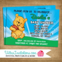 Winnie the Pooh Invitations Baby Shower- #6