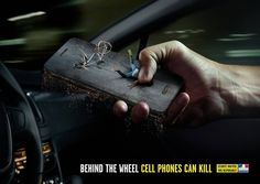 """""""Behind the wheel, cell phones can kill."""" Agency: La CHOSE"""