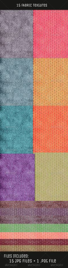 Buy Fabric Color Textures by onesmfadesign on GraphicRiver. :: Fabric Color Textures :: If you have a need for high quality fabric textures, these are perfect, as they're co.