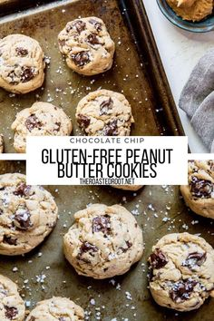 Gluten-Free Peanut Butter Chocolate Chip Cookies - Amazing crowd-pleasing gluten-free cookie recipe made refined sugar-free for a healthier treat! #dessert #peanutbutter #peanutbuttercookies #chocolatechipcookies #glutenfree #sugarfree #healthydessert