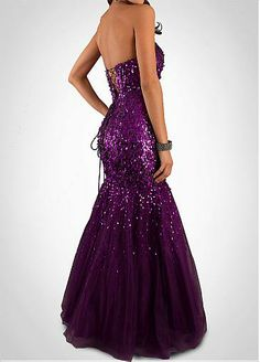 Glamorous Sequin Lace & Tulle Mermaid Strapless Sweetheart Neckline Floor Length Formal Gown