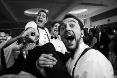 Groomsmen dance with Groom at Wedding Reception in Charlotte NC