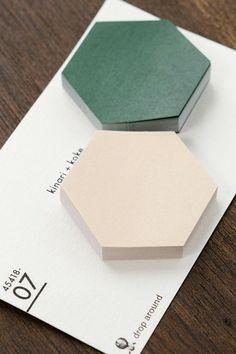 Sticky Notes - Fusen (Beige / Moss Green)