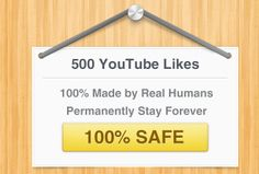 500 YouTube permanent likes just for you