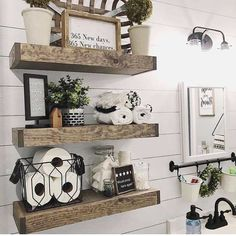 HOME * Decoration Outstanding Tiny Bathroom Ideas - House Topics Are Robotic Lawn Mowers in Your Fut Decorating Bathroom Shelves, Small Bathroom Storage, Bathroom Design Small, Bathroom Organization, Bathroom Designs, Bathroom Shelf Decor, Small Storage, Bath Decor, Bathroom Rack