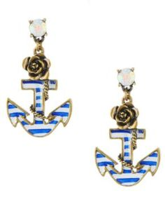 Totally have these! Super cute Betsey Johnson earrings!