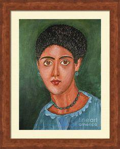 Portrait Framed Print featuring the painting Princess Portrait by Grigorios Moraitis