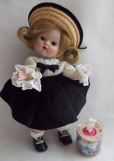 Vogue Strung Ginny Doll 1952  Vogue Tagged Outfit  #81 Ginny Series #DollswithClothingAccessories