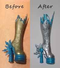 Monster High Schuhe OOAK Shoes Boots Frankie Stein Repaint So Cool !!! Look :)