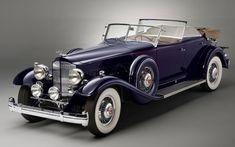 Wallpaper Front, 1932 Packard Twin Six Individual Custom, convertible sedan