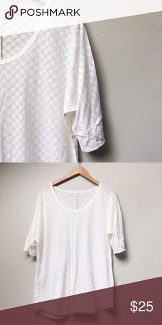 White Tunic-Style Top White tunic-style top with subtle white polka dot pattern. Beautiful to dress up or down! In like-new condition.  ✅Offers On Items Over $10 ✅Bundle & Save 🚫Trades 🚫Off-Posh 🚫Modeling  💞Shop with ease; I'm a Suggested User.💞 Maurices Tops