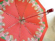 少女漫画柄 昭和レトロ 折りたたみ傘