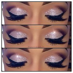 Glittery eyeshadow<3