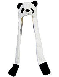 Plush Panda Hat Novelty Cap Animal Costume Beanie With Long Paws >>> Details can be found by clicking on the image.