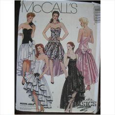 1990's McCalls pattern 4648 ladies dress Size 8 - 12 uncut
