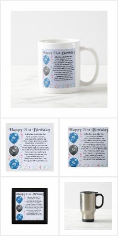 Brother Poems, Gifts For Brother, Happy 21st Birthday, Detail Shop, Holiday Photos, Business Supplies, Mugs, Holiday Pictures, Vacation Pictures