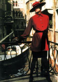 YSL, circa 1990 Photographer : Helmut Newton Model : Paloma Picasso