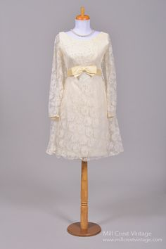 1960 Mod Trapeze Wedding Dress from Mill Crest Vintage