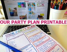 How to Plan a Party Printable Planner | Childhood101