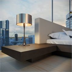 Modloft Worth Platform Bed in Wenge and Dusty Grey Leather - HB39A-XX-WEN-GRY  $1675