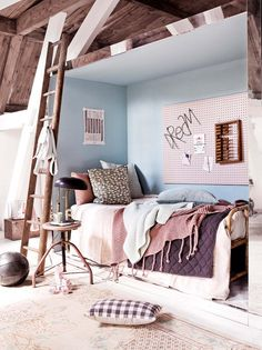 The best teen girl room ideas including dream bedrooms in all styles including boho vintage and modern and in pink blue teal grey and gold. Ideas for DIY and fun decorations to make it your own and beds bedding desks lights wall décor and more! Teen Girl Rooms, Teen Bedroom, Baby Rooms, Kids Rooms, Baby Room Decor, Bedroom Decor, Scandinavian Baby Room, Fantasy Bedroom, Ideas Hogar