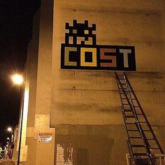 Invader x COST New Street Piece - Paris, France