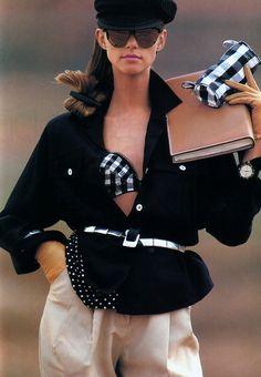 Gilles Bensimon for Elle magazine, April 1988. Clothing by Marc Jacobs.