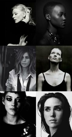 BLISS - friday pins || b & w portraits of stunningfolks