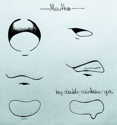 Typical of anime mouths 22 Art Drawings Sketches Simple, Pencil Art Drawings, Cute Drawings, Body Drawing Tutorial, Manga Drawing Tutorials, Drawing Reference Poses, Drawing Tips, Anime Mouth Drawing, Boca Anime