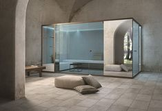 effegibi provide the most beautiful sauna and turkish bath for private interiors Amazing Architecture, Interior Architecture, Interior Design, Turkish Bath House, Sauna Hammam, Sauna House, Add A Room, Steam Bath, Style Minimaliste