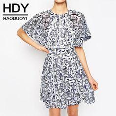 Aliexpress.com: Compre HDY Haoduoyi 2016 Nova Moda Feminina Floral Impressão…