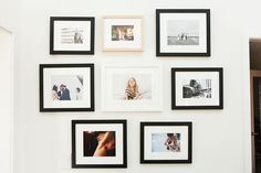 a great configuration for an 8 frame wall gallery