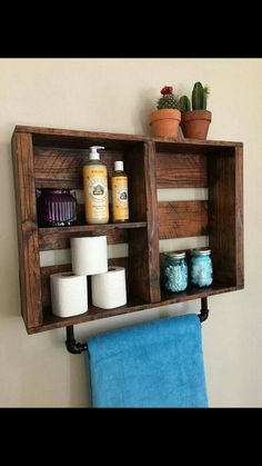 rustic Bathroom shelf FIRE TREATED with pipe towel rack aged